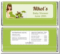 Modern Mommy Crib Neutral - Personalized Baby Shower Candy Bar Wrappers