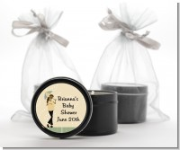 Mod Mom African American - Baby Shower Black Candle Tin Favors