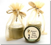 Mod Mom African American - Baby Shower Gold Tin Candle Favors