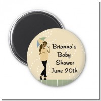 Mod Mom African American - Personalized Baby Shower Magnet Favors