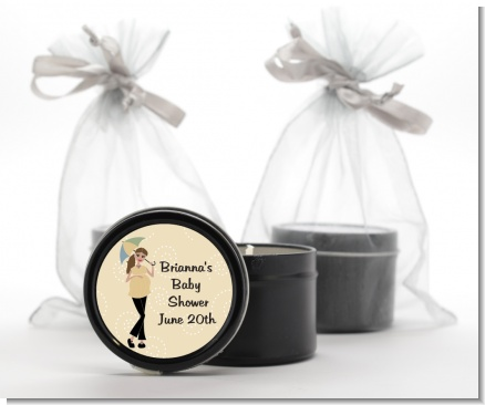 Mod Mom - Baby Shower Black Candle Tin Favors