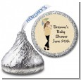 Mod Mom - Hershey Kiss Baby Shower Sticker Labels thumbnail