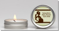 Mommy Silhouette It's a Baby - Baby Shower Candle Favors