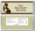 Mommy Silhouette It's a Baby - Personalized Baby Shower Candy Bar Wrappers thumbnail