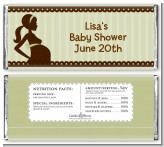 Mommy Silhouette It's a Baby - Personalized Baby Shower Candy Bar Wrappers