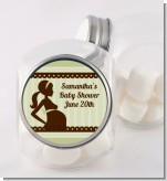 Mommy Silhouette It's a Baby - Personalized Baby Shower Candy Jar