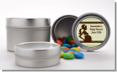 Mommy Silhouette It's a Baby - Custom Baby Shower Favor Tins