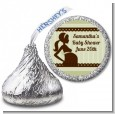 Mommy Silhouette It's a Baby - Hershey Kiss Baby Shower Sticker Labels thumbnail