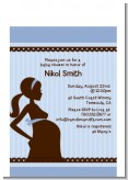 Mommy Silhouette It's a Baby - Baby Shower Petite Invitations