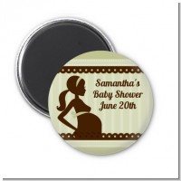 Mommy Silhouette It's a Baby - Personalized Baby Shower Magnet Favors