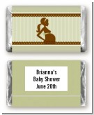 Mommy Silhouette It's a Baby - Personalized Baby Shower Mini Candy Bar Wrappers