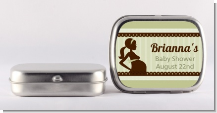 Mommy Silhouette It's a Baby - Personalized Baby Shower Mint Tins