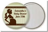 Mommy Silhouette It's a Baby - Personalized Baby Shower Pocket Mirror Favors