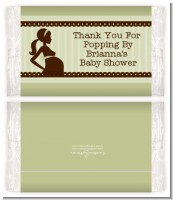 Mommy Silhouette It's a Baby - Personalized Popcorn Wrapper Baby Shower Favors