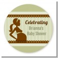 Mommy Silhouette It's a Baby - Personalized Baby Shower Table Confetti thumbnail