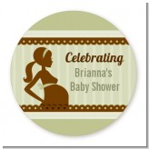 Mommy Silhouette It's a Baby - Personalized Baby Shower Table Confetti