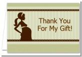 Mommy Silhouette It's a Baby - Baby Shower Thank You Cards