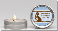 Mommy Silhouette It's a Boy - Baby Shower Candle Favors