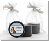 Mommy Silhouette It's a Boy - Baby Shower Black Candle Tin Favors