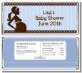 Mommy Silhouette It's a Boy - Personalized Baby Shower Candy Bar Wrappers thumbnail