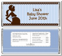 Mommy Silhouette It's a Boy - Personalized Baby Shower Candy Bar Wrappers