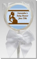 Mommy Silhouette It's a Boy - Personalized Baby Shower Lollipop Favors