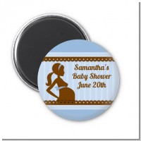 Mommy Silhouette It's a Boy - Personalized Baby Shower Magnet Favors