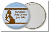 Mommy Silhouette It's a Boy - Personalized Baby Shower Pocket Mirror Favors