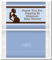 Mommy Silhouette It's a Boy - Personalized Popcorn Wrapper Baby Shower Favors