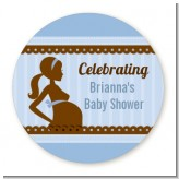 Mommy Silhouette It's a Boy - Personalized Baby Shower Table Confetti