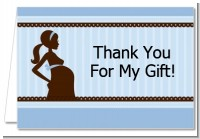 Mommy Silhouette It's a Boy - Baby Shower Thank You Cards
