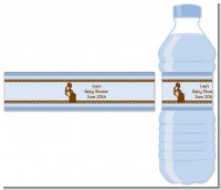 Mommy Silhouette It's a Boy - Personalized Baby Shower Water Bottle Labels