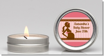 Mommy Silhouette It's a Girl - Baby Shower Candle Favors