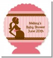 Mommy Silhouette It's a Girl - Personalized Baby Shower Centerpiece Stand thumbnail