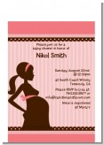 Mommy Silhouette It's a Girl - Baby Shower Petite Invitations