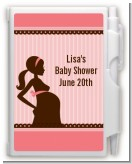 Mommy Silhouette It's a Girl - Baby Shower Personalized Notebook Favor