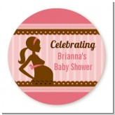 Mommy Silhouette It's a Girl - Personalized Baby Shower Table Confetti