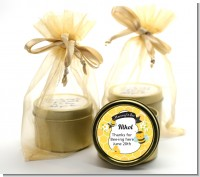 Mommy To Bee - Baby Shower Gold Tin Candle Favors