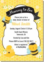 Mommy To Bee - Baby Shower Invitations