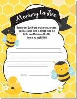 Mommy To Bee - Baby Shower Notes of Advice