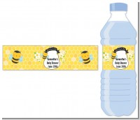 Mommy To Bee - Personalized Baby Shower Water Bottle Labels