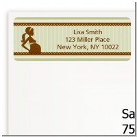 Mommy Silhouette It's a Baby - Baby Shower Return Address Labels