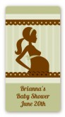 Mommy Silhouette It's a Baby - Custom Rectangle Baby Shower Sticker/Labels