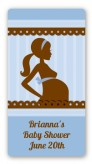 Mommy Silhouette It's a Boy - Custom Rectangle Baby Shower Sticker/Labels