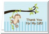 Monkey Boy - Birthday Party Thank You Cards