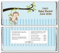 Monkey Boy - Personalized Baby Shower Candy Bar Wrappers