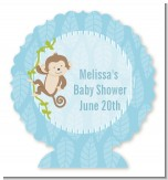 Monkey Boy - Personalized Baby Shower Centerpiece Stand