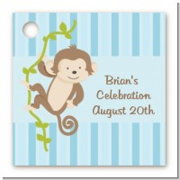 Monkey Boy - Personalized Birthday Party Card Stock Favor Tags