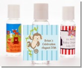 Monkey Boy - Personalized Birthday Party Hand Sanitizers Favors