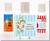 Monkey Boy - Personalized Baby Shower Hand Sanitizers Favors